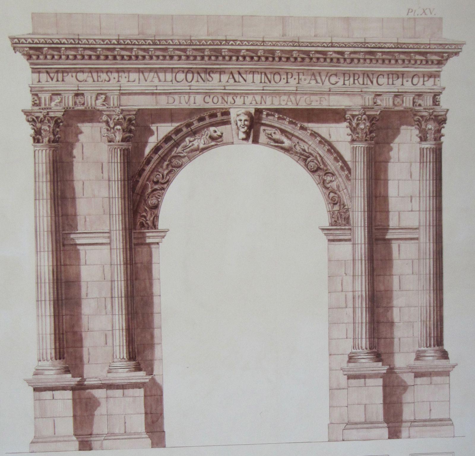 Reconstitution de l'Arc du Rhône.