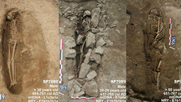 Nîmes, fouilles du parking avenue Jean-Jaurès (responsables J-Y Breuil, B. Houix) / J. Vial, P. Pliskine, M-F Bernard, Inrap.
