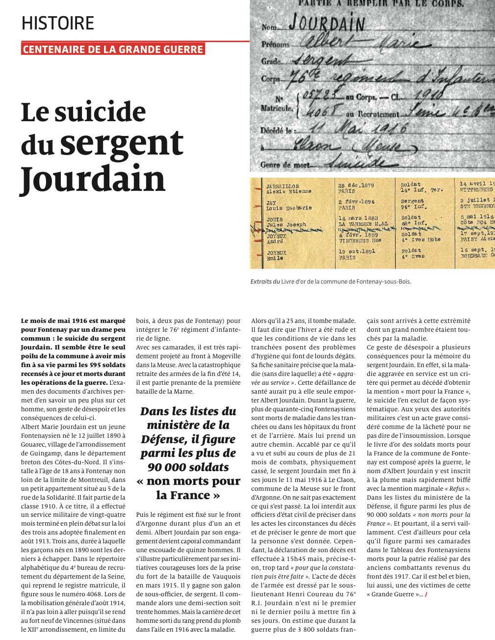 Article du journal A Fontenay n° 120, page 17.
