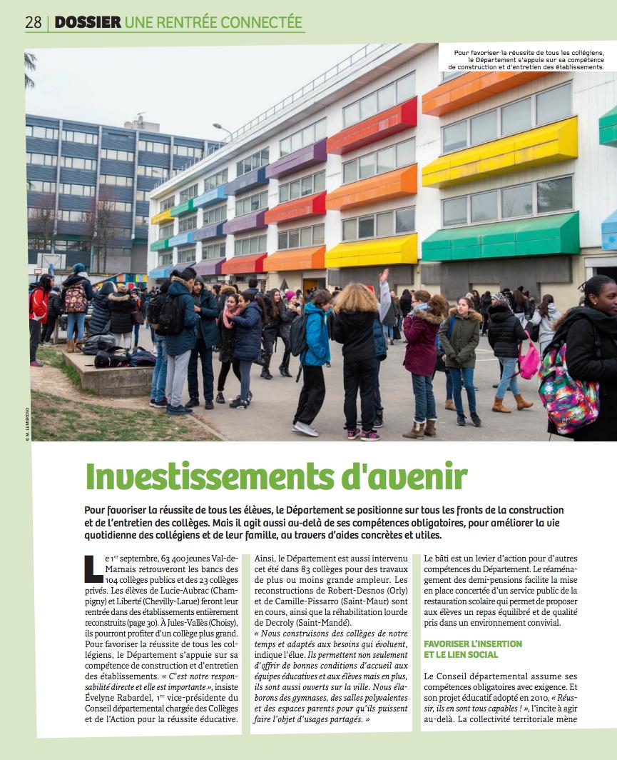Des collèges connectés en Val-de-Marne.