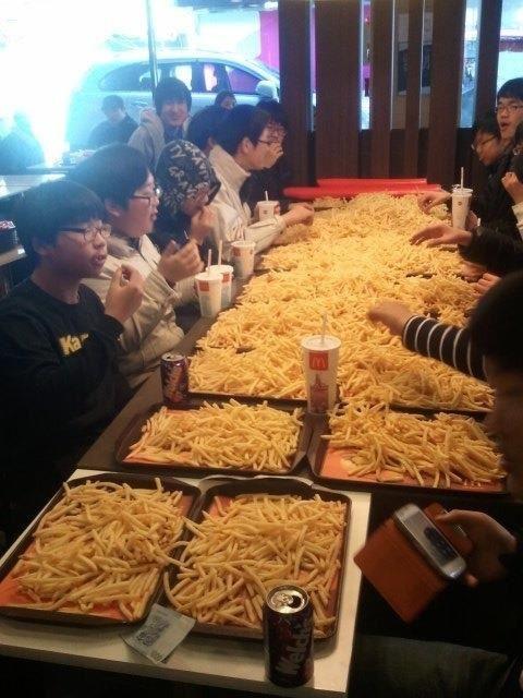 Tu veux des frites?