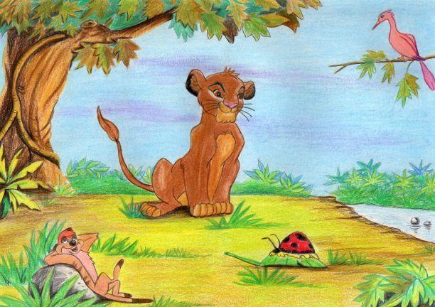Dessins une demande le roi lion dolorestrinquart - Dessin simba roi lion ...