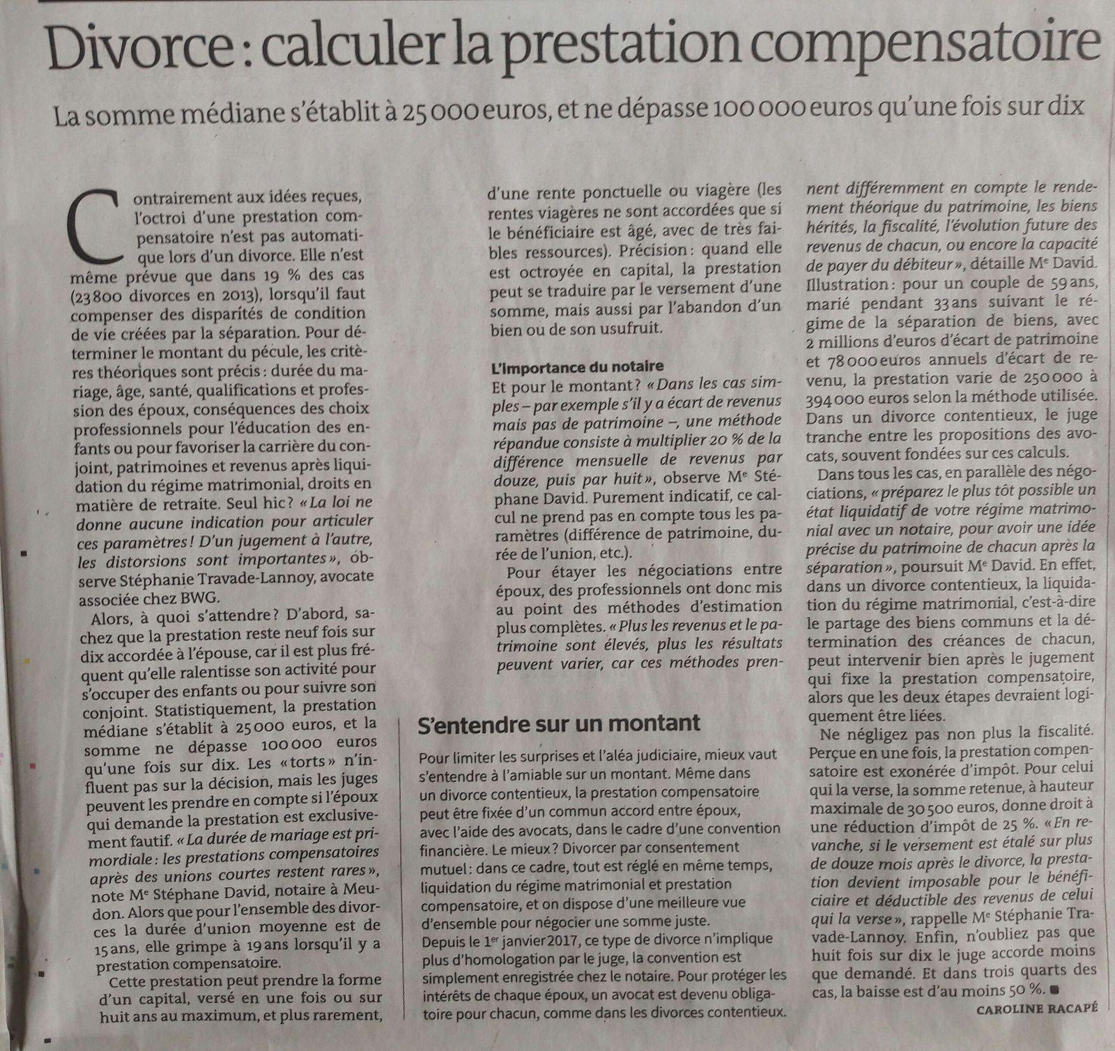 Divorce Et Calcul De La Prestation Compensatoire Le Blog Du
