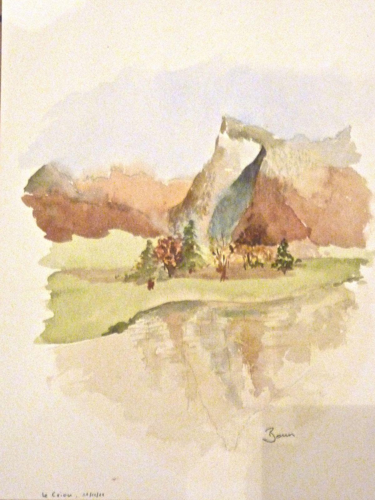 Mes 2 premières aquarelles, le 11/11/11 avec Annie (Prof aux Beaux Arts de Lyon)