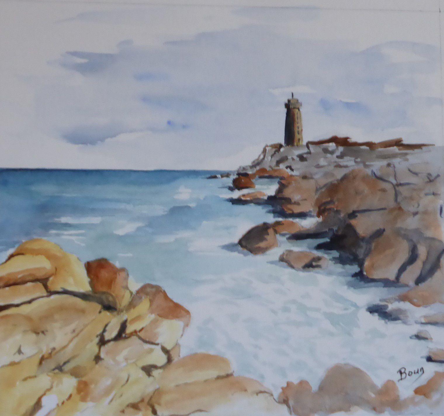 """En passant par la Bretagne: """"Ecume de mer"""" (20 x 24 cm)"""