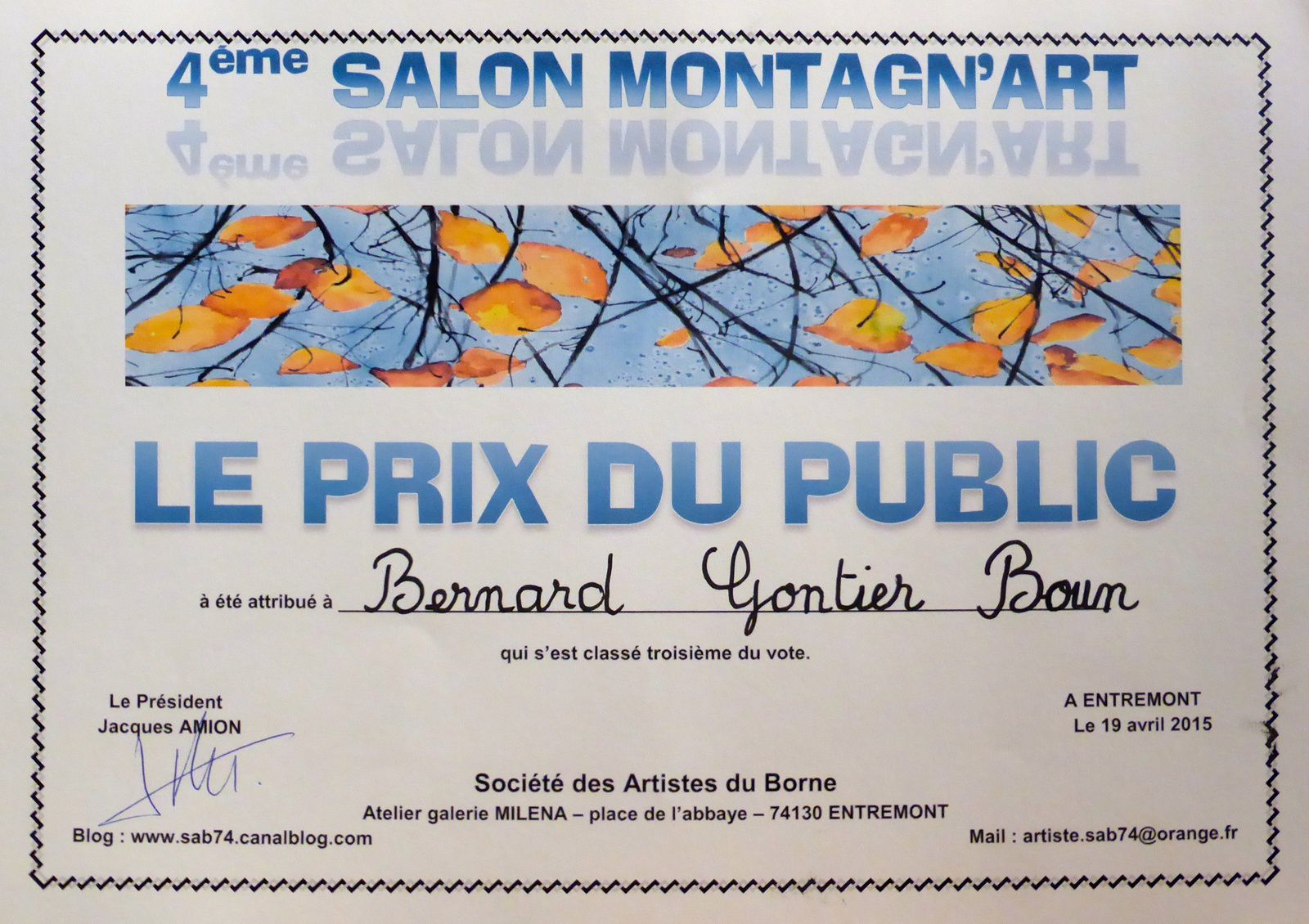 EXPOSITION    Avril 2015