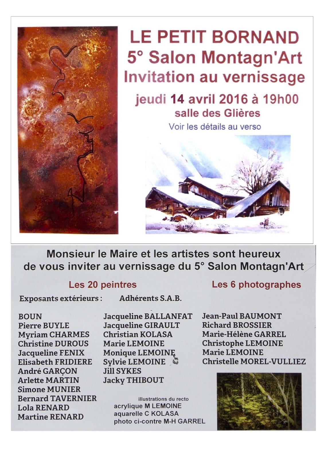 Exposition  Avril 2016