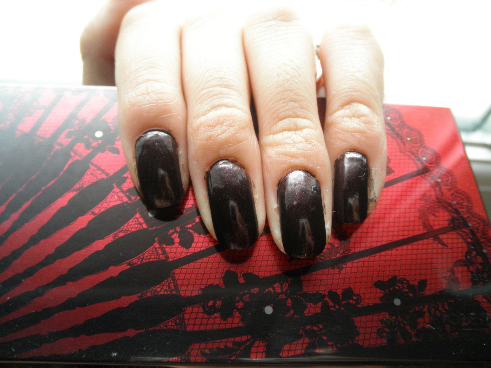 Un Rouge noir pour l'hivers [Mon vernis du moment]