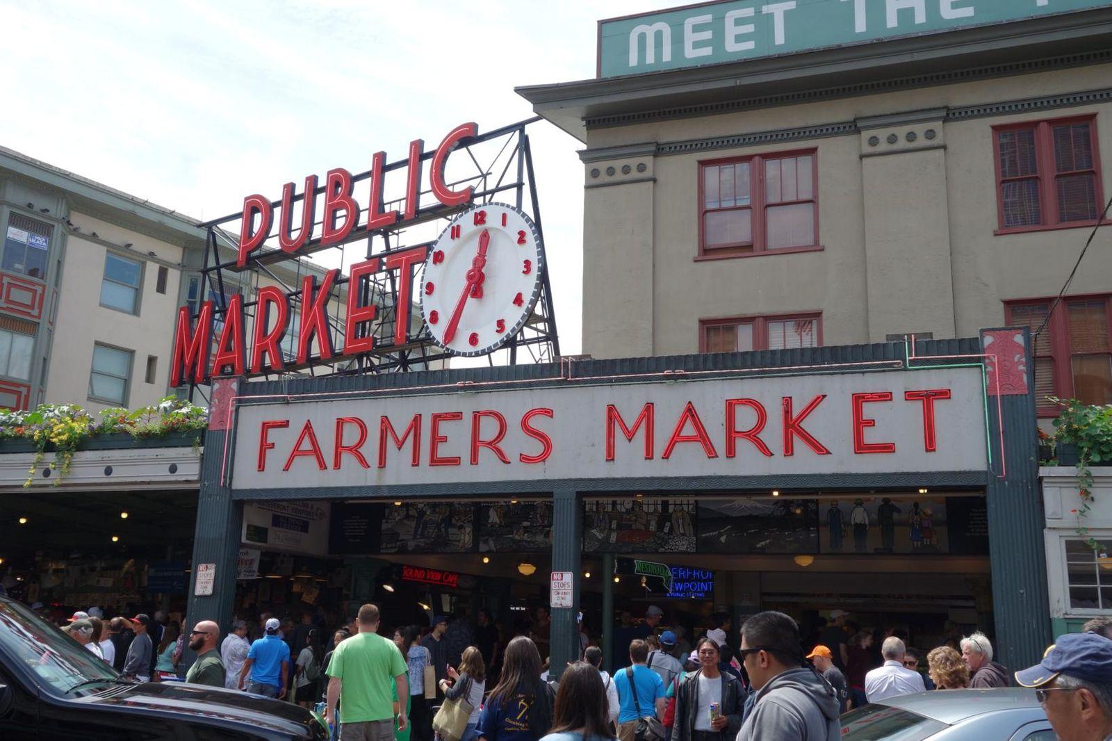 Pike Market Place et le plus premier Starbucks.