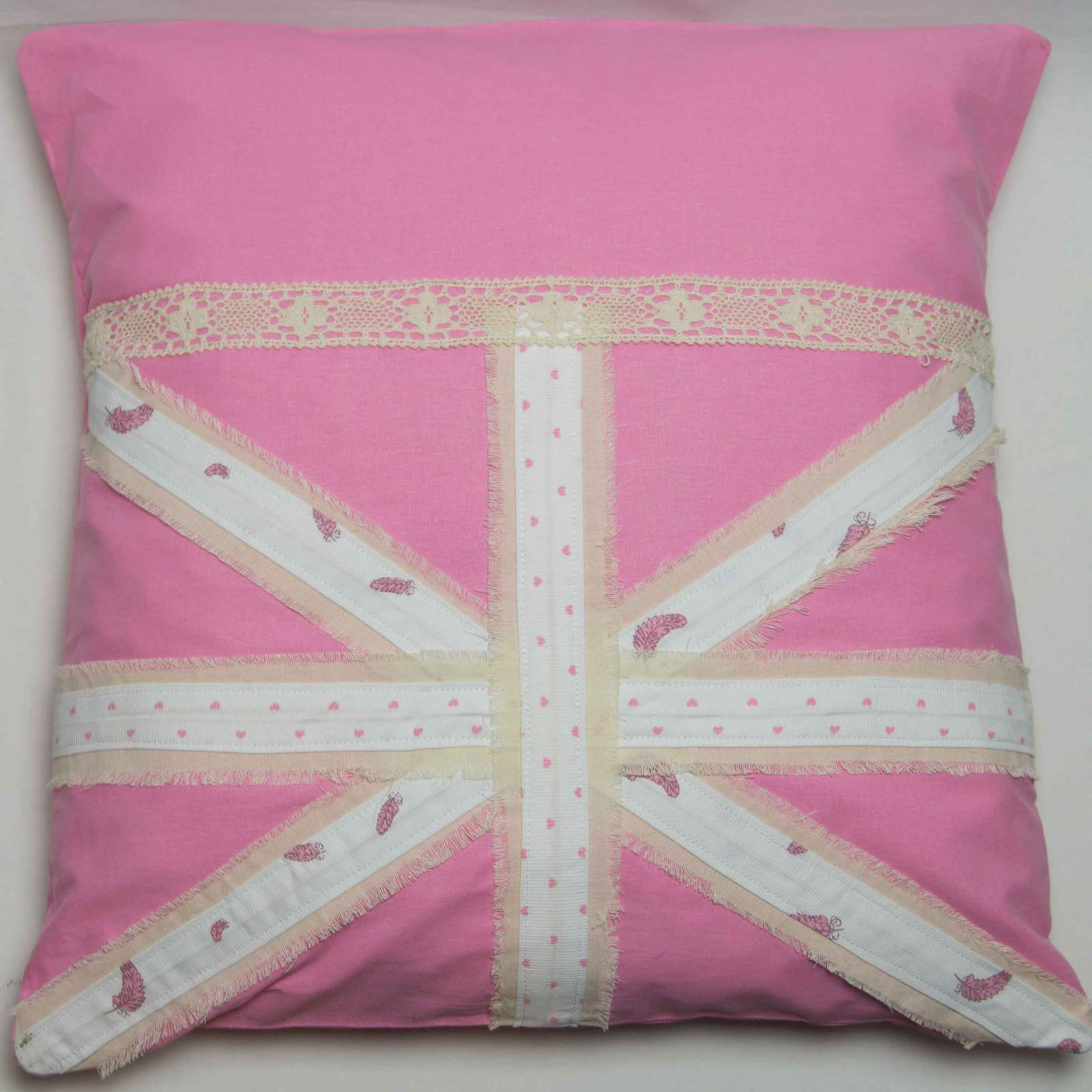 Drapeau anglais made in shabby valody creation for Housse de coussin anglais