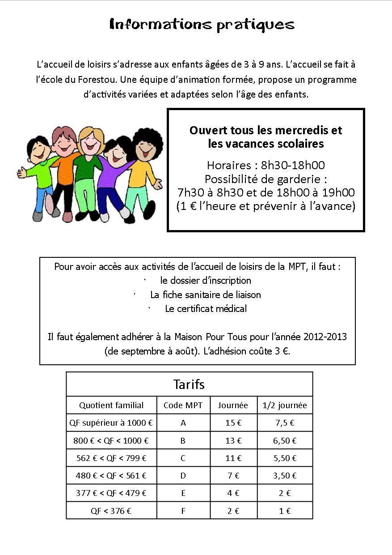 Programme Accueil de Loisirs 3-9 ans