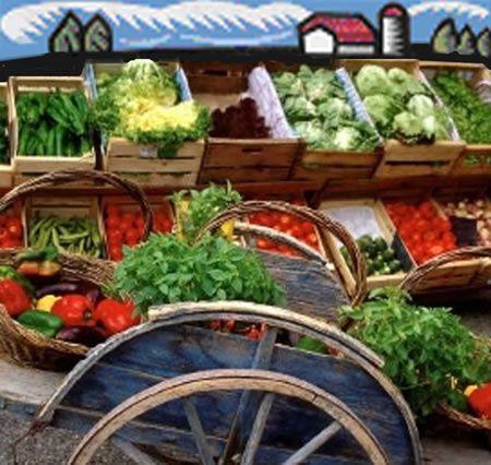 Un petit tour sur le marché de Crécy.