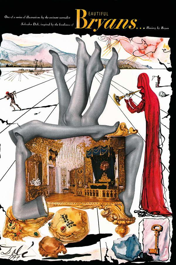 affiche de Salvador Dali pour les bas Bryans
