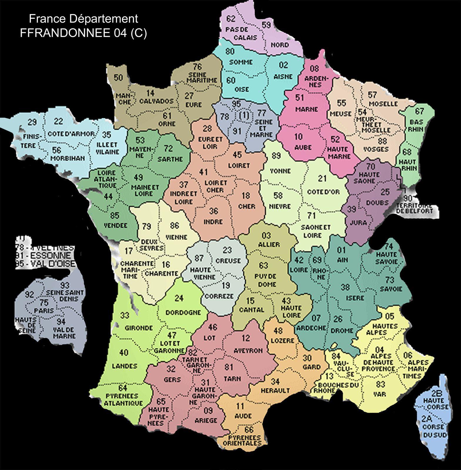 Carte De Fracne Ville