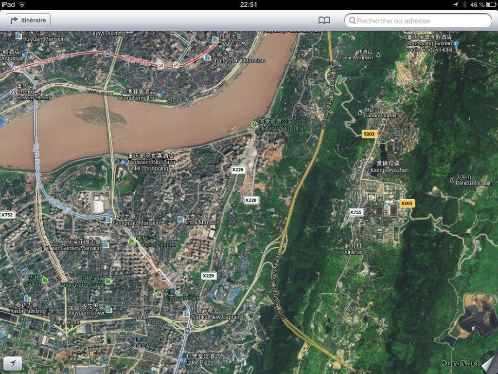 Chongqing en vision panoramique.