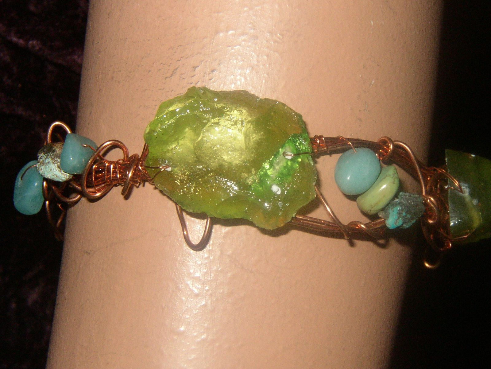 Bracelet- résine et pierres
