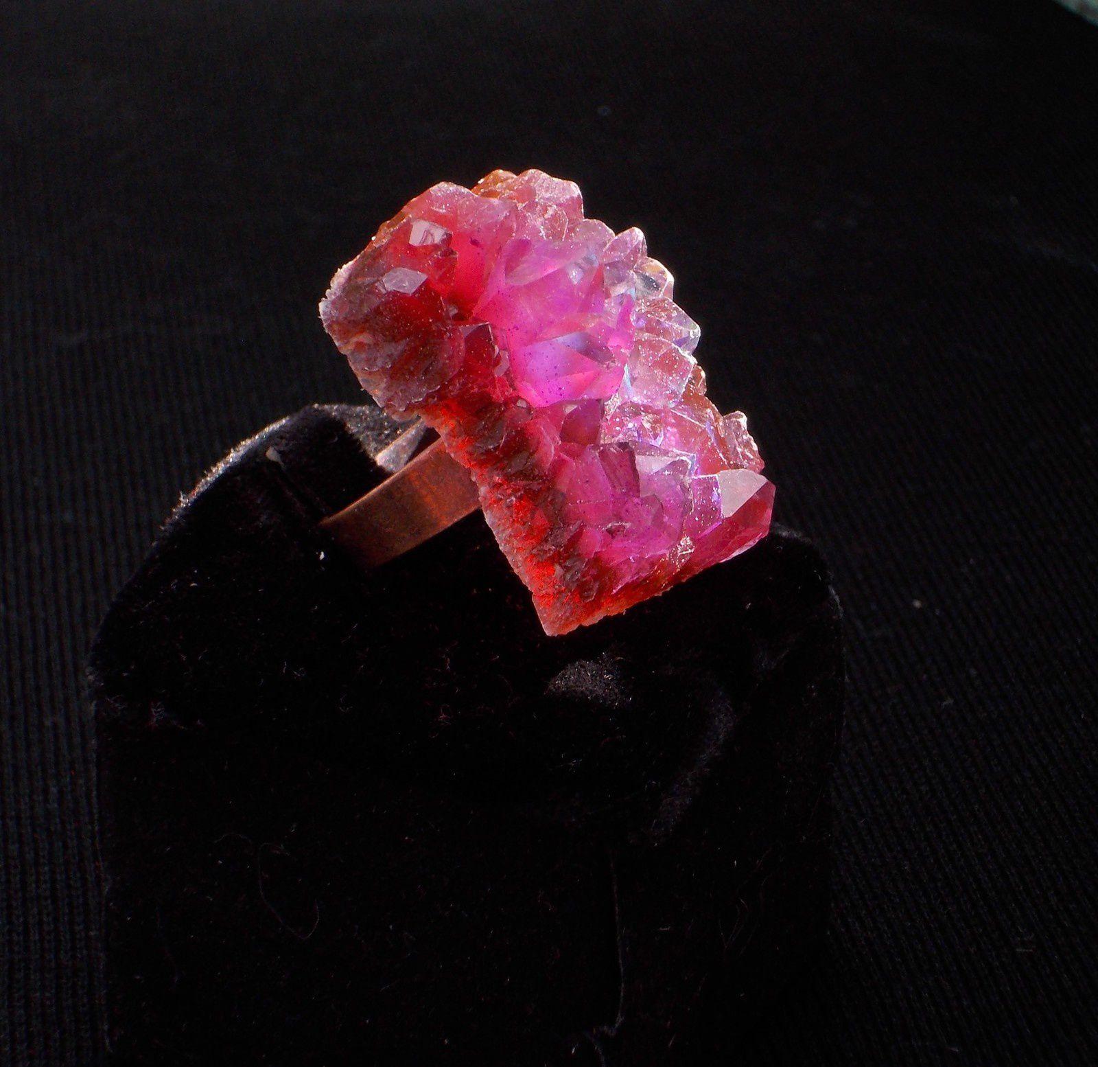 Bague féérique-cristal imaginaire rose bonbon