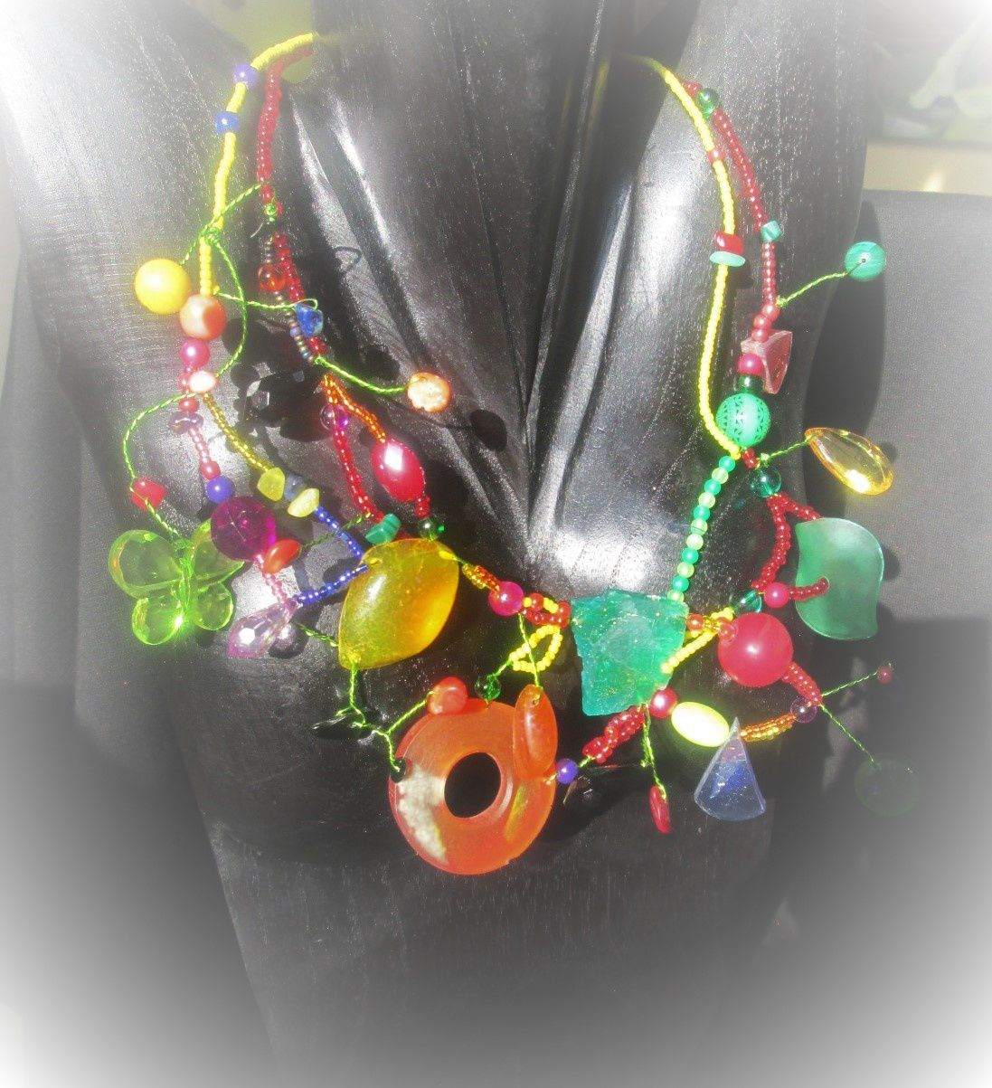 "Collier "" Jardin tropical """