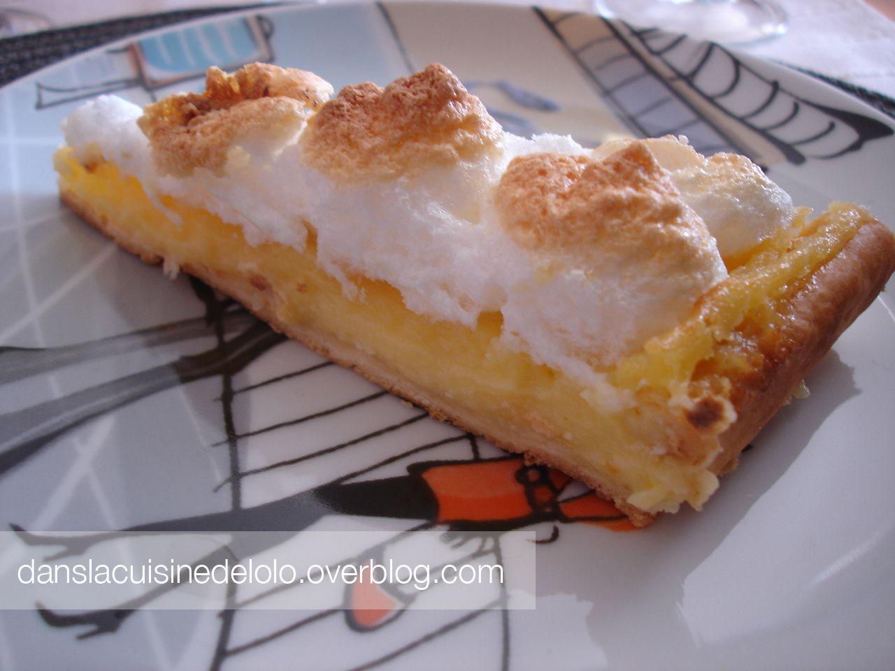Tarte au citron meringu e dans la cuisine de lolo - Herve cuisine tarte citron ...
