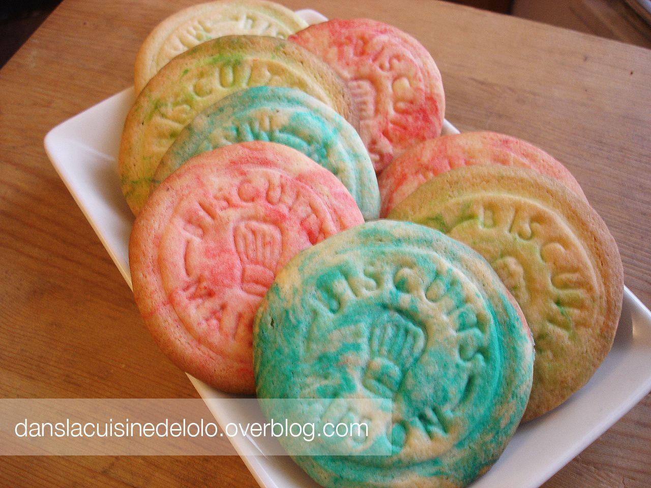 Biscuits maison colorés