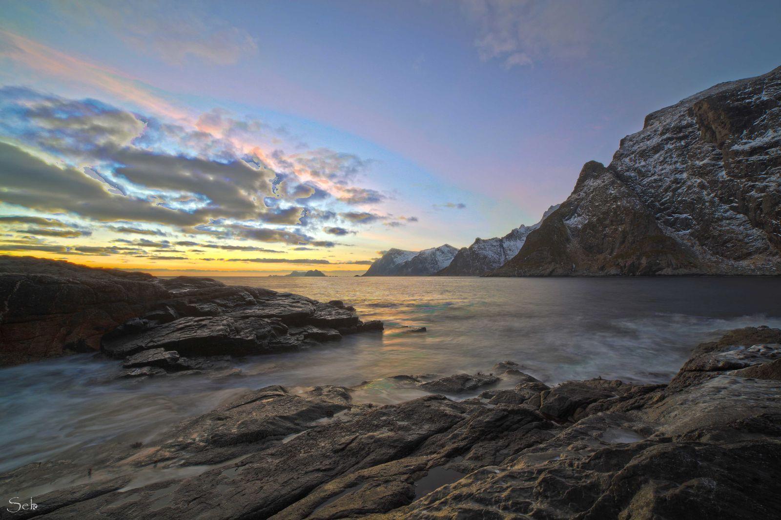 L'extrême sud des îles Lofoten en Norvège.