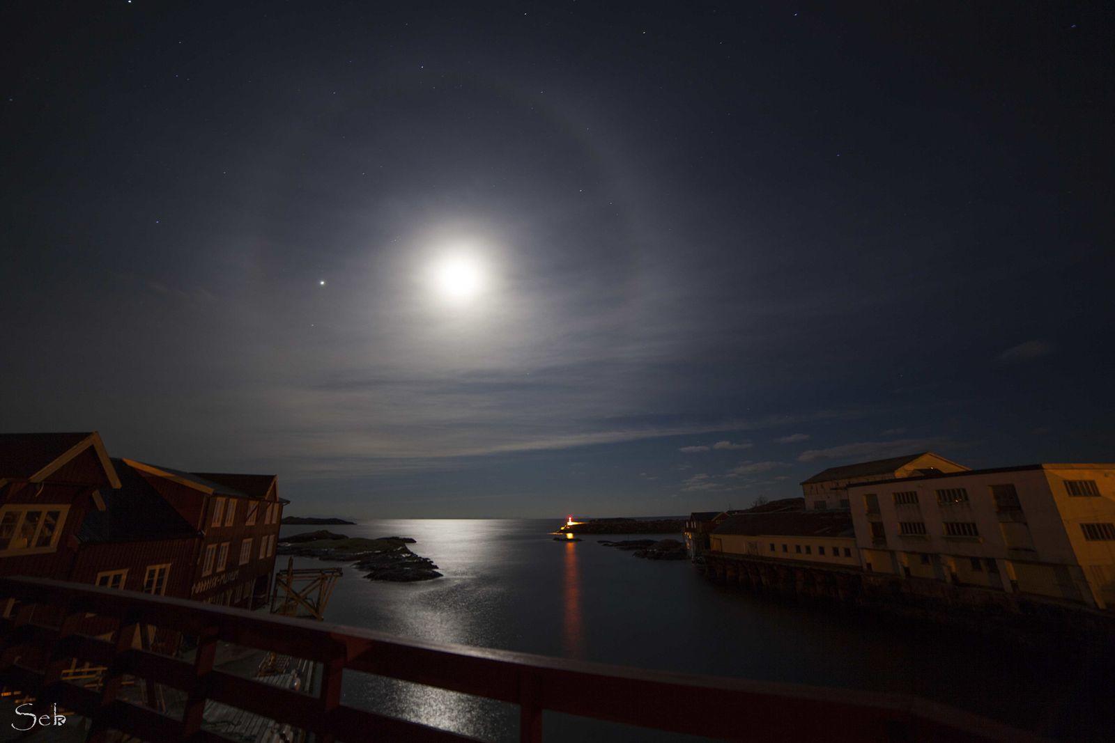 Il existe de nombreux types de halos, tous formés par l'interaction entre la lumière solaire (directe ou renvoyée par la lune) et des cristaux de glace en suspension dans l'air ou présents dans les nuages visibles de la haute troposphère, entre 5 et 10 km d'altitude, notamment dans les cirrostratus. La forme et l'orientation particulière des cristaux, ainsi que l'incidence du rayonnement lumineux sont responsables du type de halo observé. La lumière est réfléchie et réfractée par ces cristaux et sa lumière peut être dispersée, comme pour un arc-en-ciel.