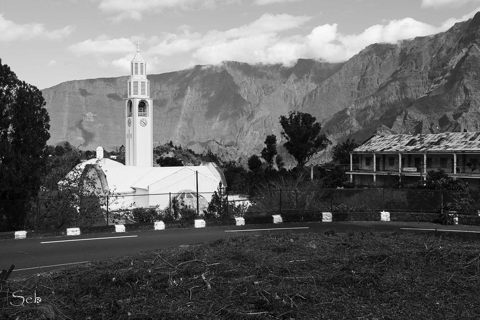 L'église de Cilaos.