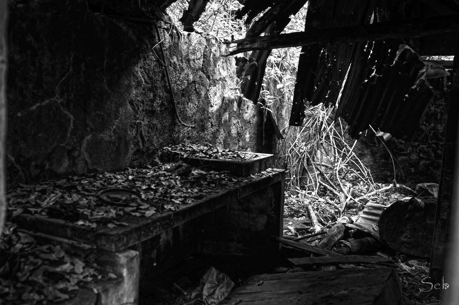 Ancienne case Noir et Blanc
