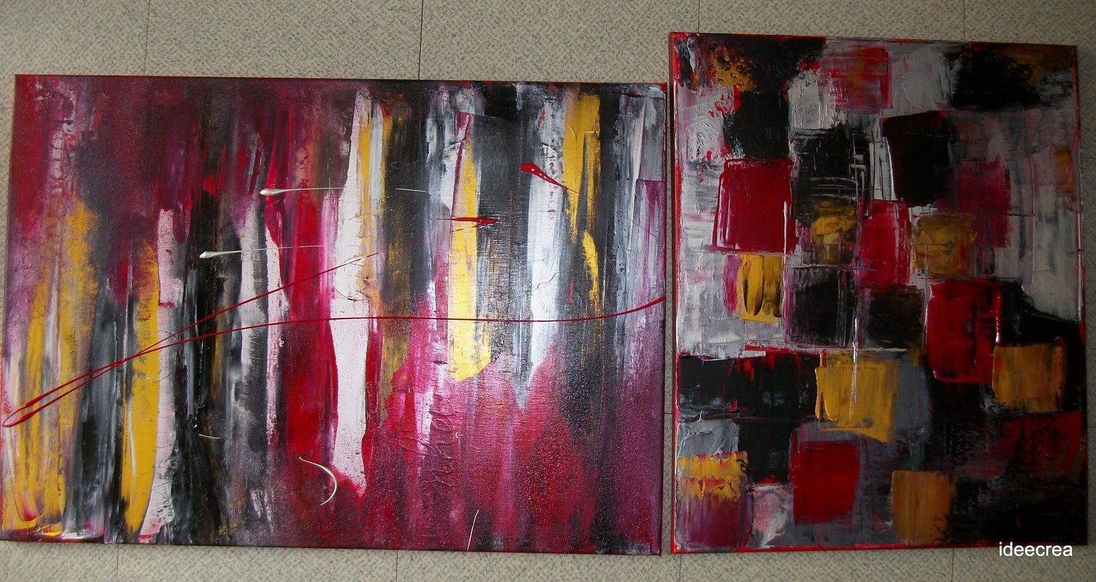 "Toile à l'acrylique- contemporain abstrait ""Quelque part""- Collection ""l'in-individualité"""
