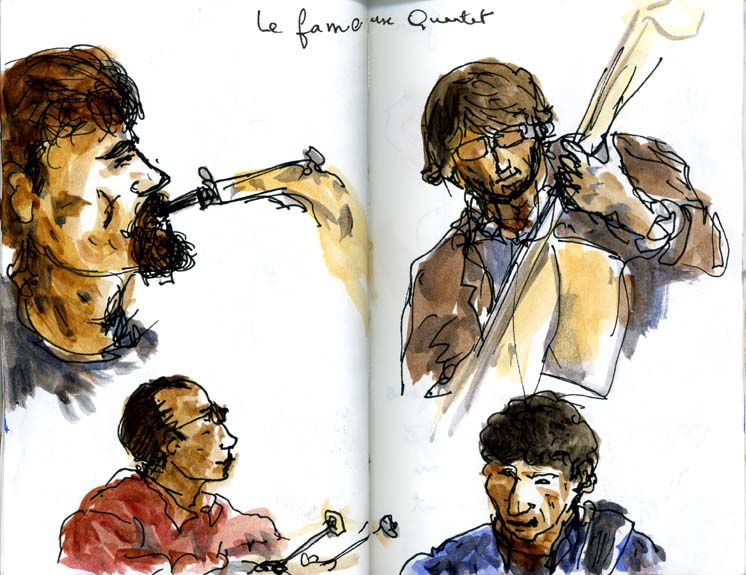 Le concert du Franck Roger quartet en avril 2006 (Montfermeil)