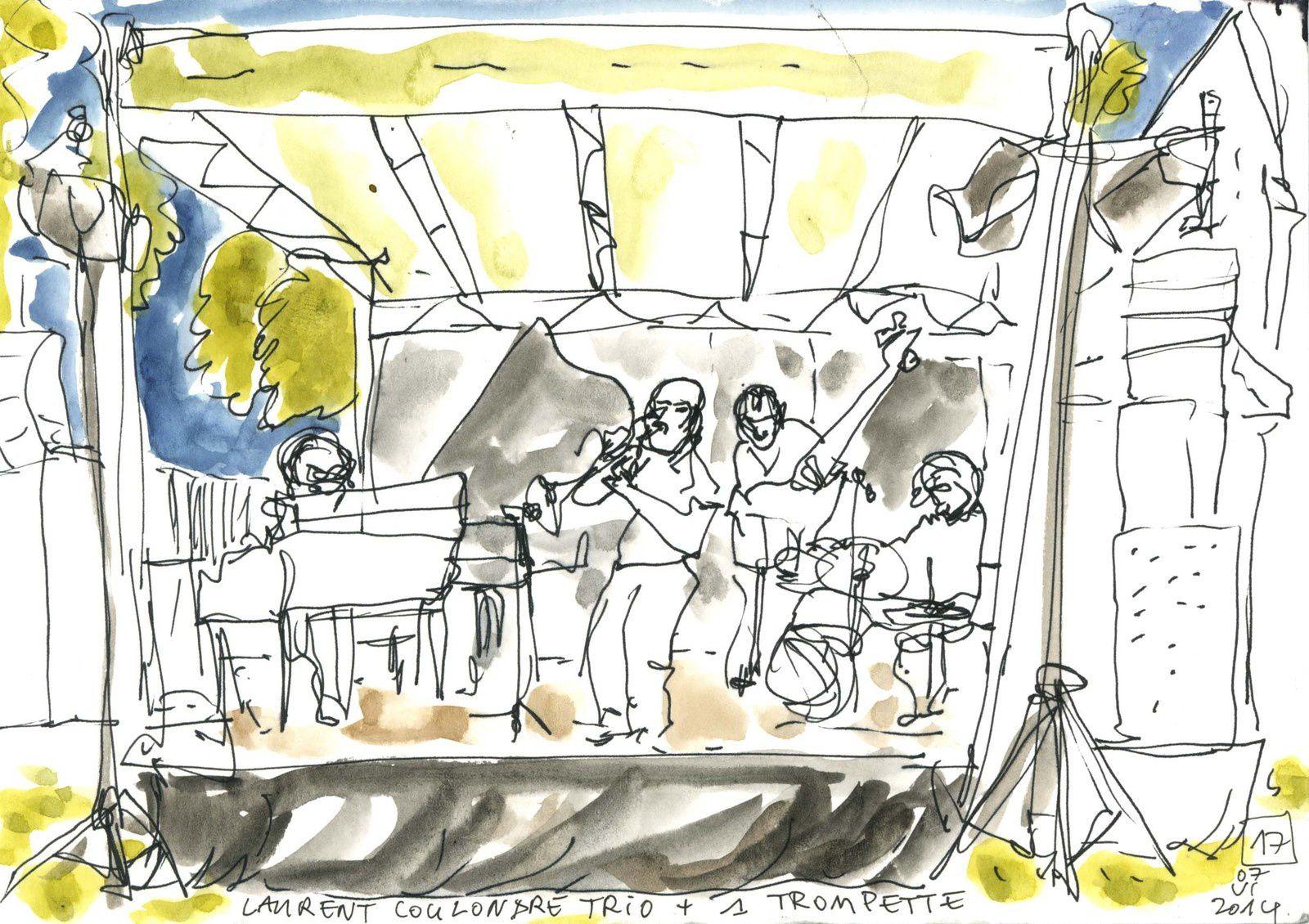 Laurent Coulondre trio (Ferté jazz festival, juin 2014)
