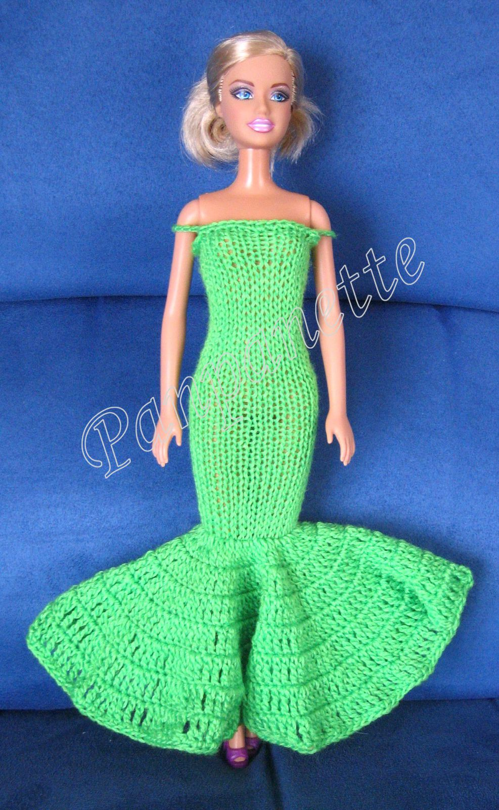 Robes de Barbie au tricot et crochet