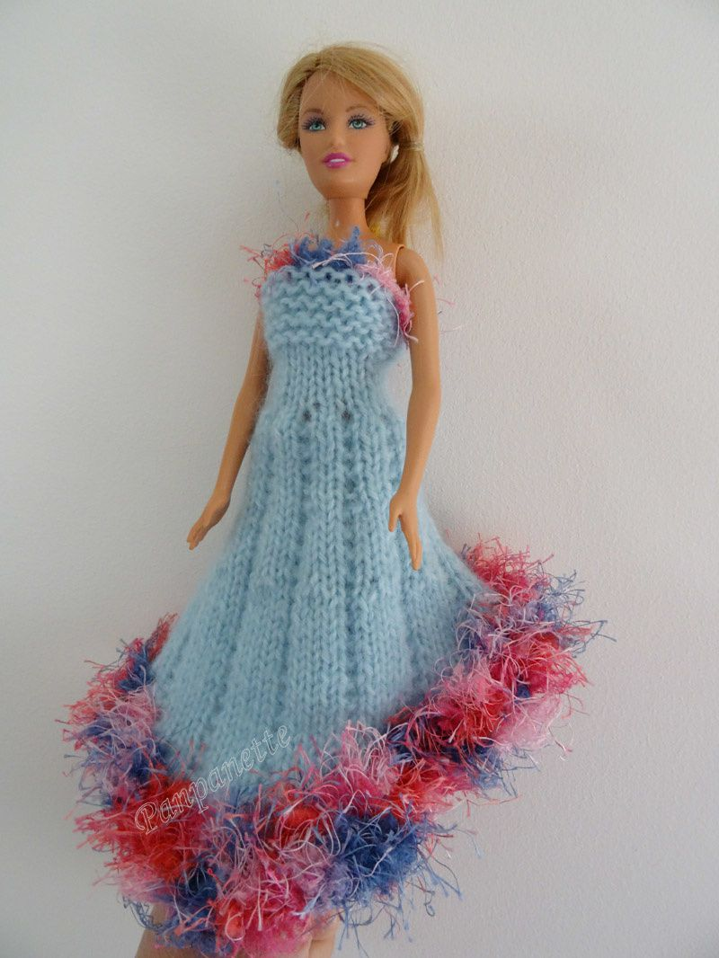 tricoter robe barbie