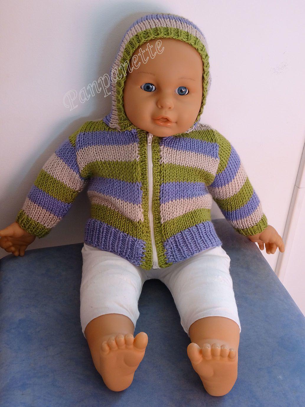 Gilet bébé avec capuche