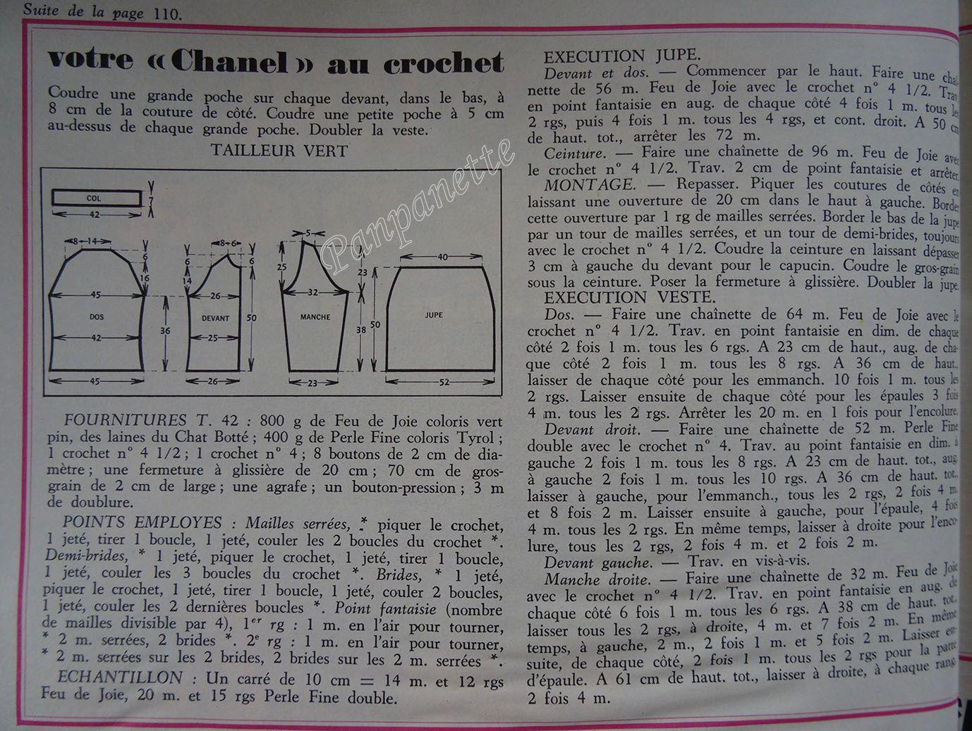 Tailleur Chanel au crochet