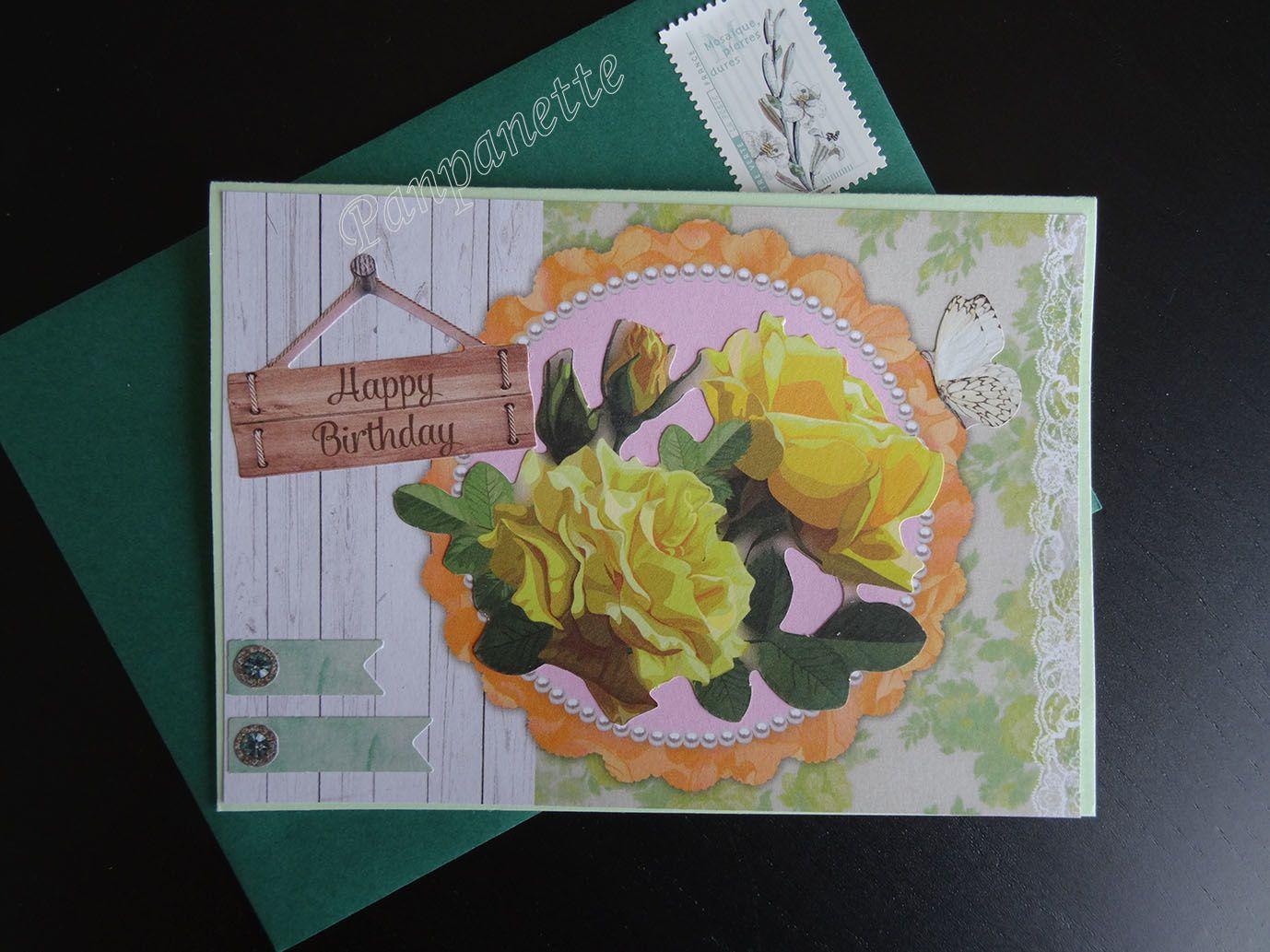 Carte anniversaire pour Véronique