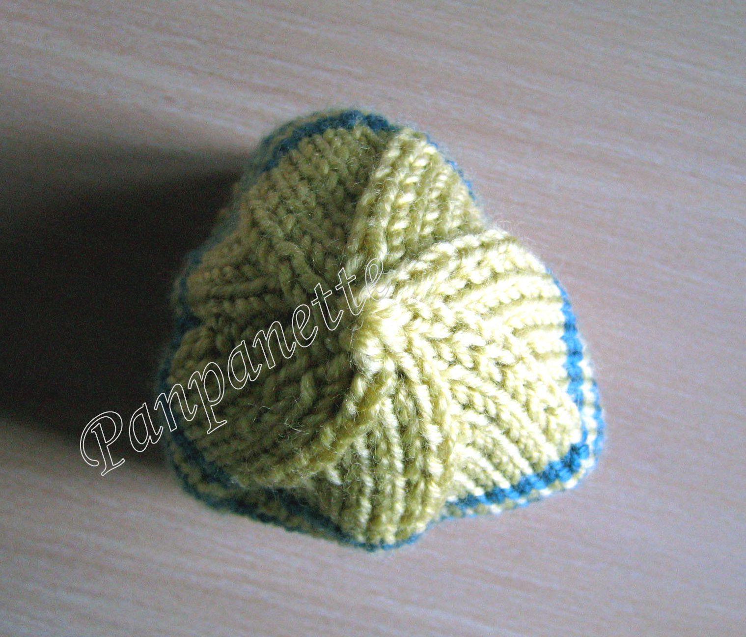 Bonnet nourrisson au tricot