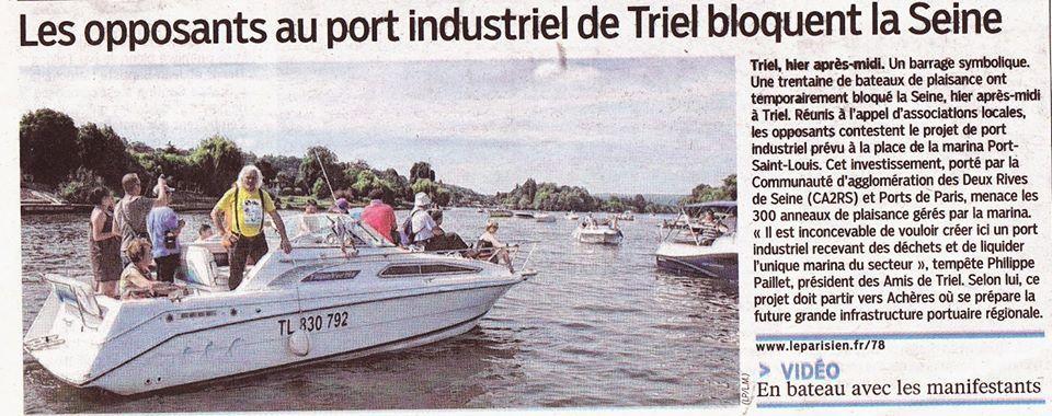 Manifestation contre le port industriel et la sauvegarde du port St Louis