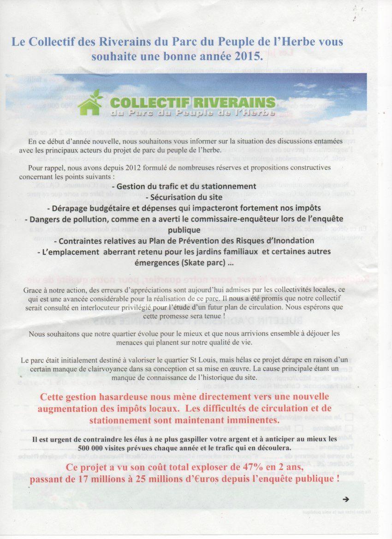 Les riverains du parc continuent à se défendre à Carrières-sous-Poissy !