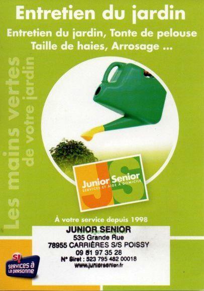 Junior s nior votre aide domicile et service la for Tonte de pelouse a domicile