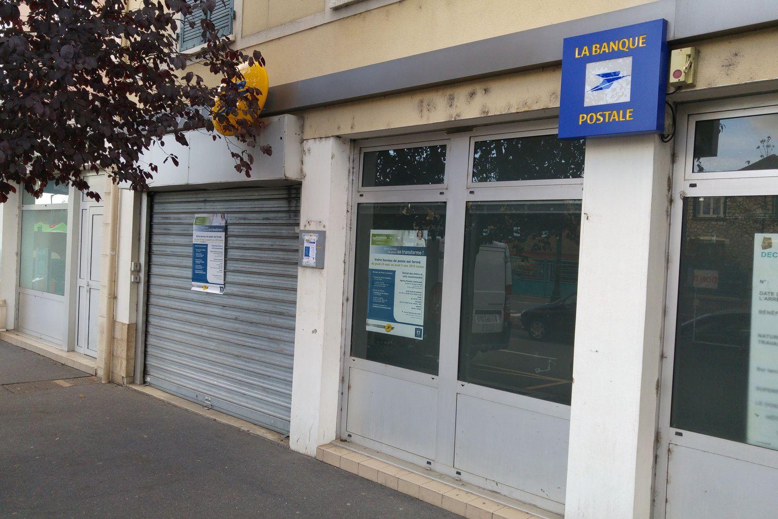 La poste de Carrières-sous-Poissy est fermée jusqu'au 5 novembre inclus !