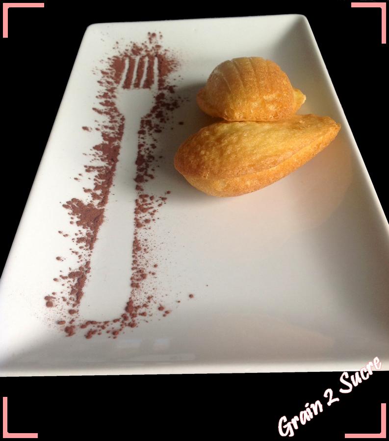 <font color =#FFFFFF> Recette, dessert, Grain 2 Sucre, Madeleines. Beurre fondu. fouettez oeufs et sucre, ajoutez farine et levure</font>