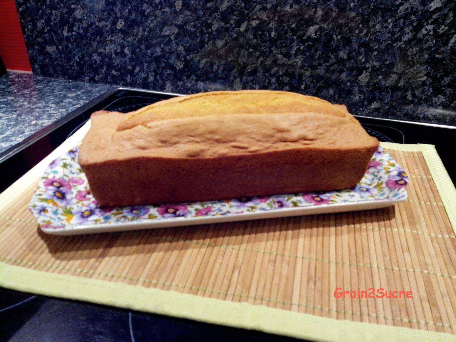 Grain2Sucre. Recette Cake, farine,œufs, beurre, sucre, levure.
