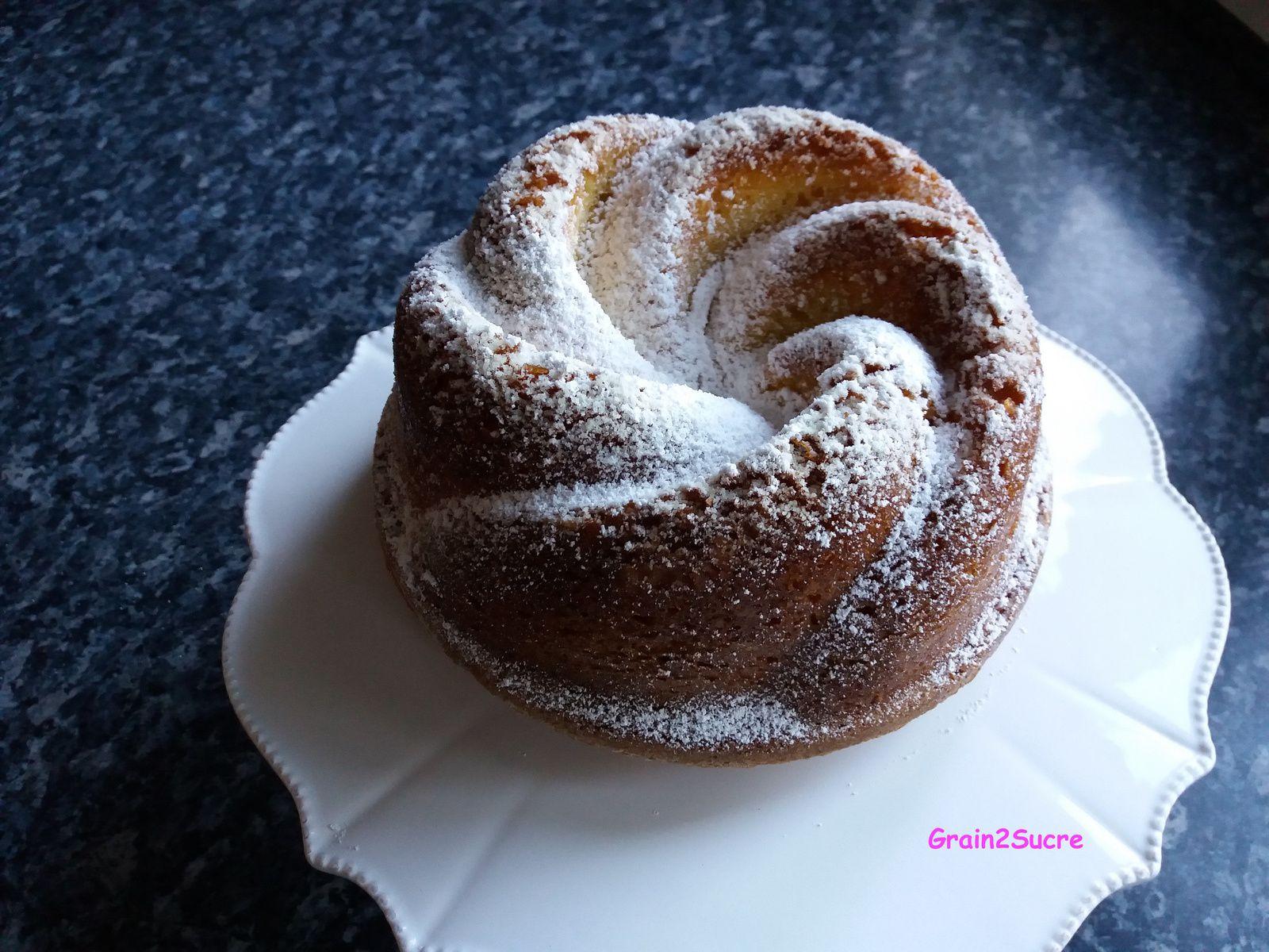 """Recette Grain2Sucre. Gâteau """"12 cuillères """", œufs, sucre, farine, huile, lait, levure."""