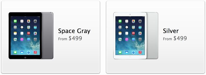 iPad Air online orders go live in the United States, Canada, and Europe
