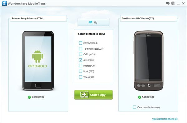 How to transfer apps from Android to Android