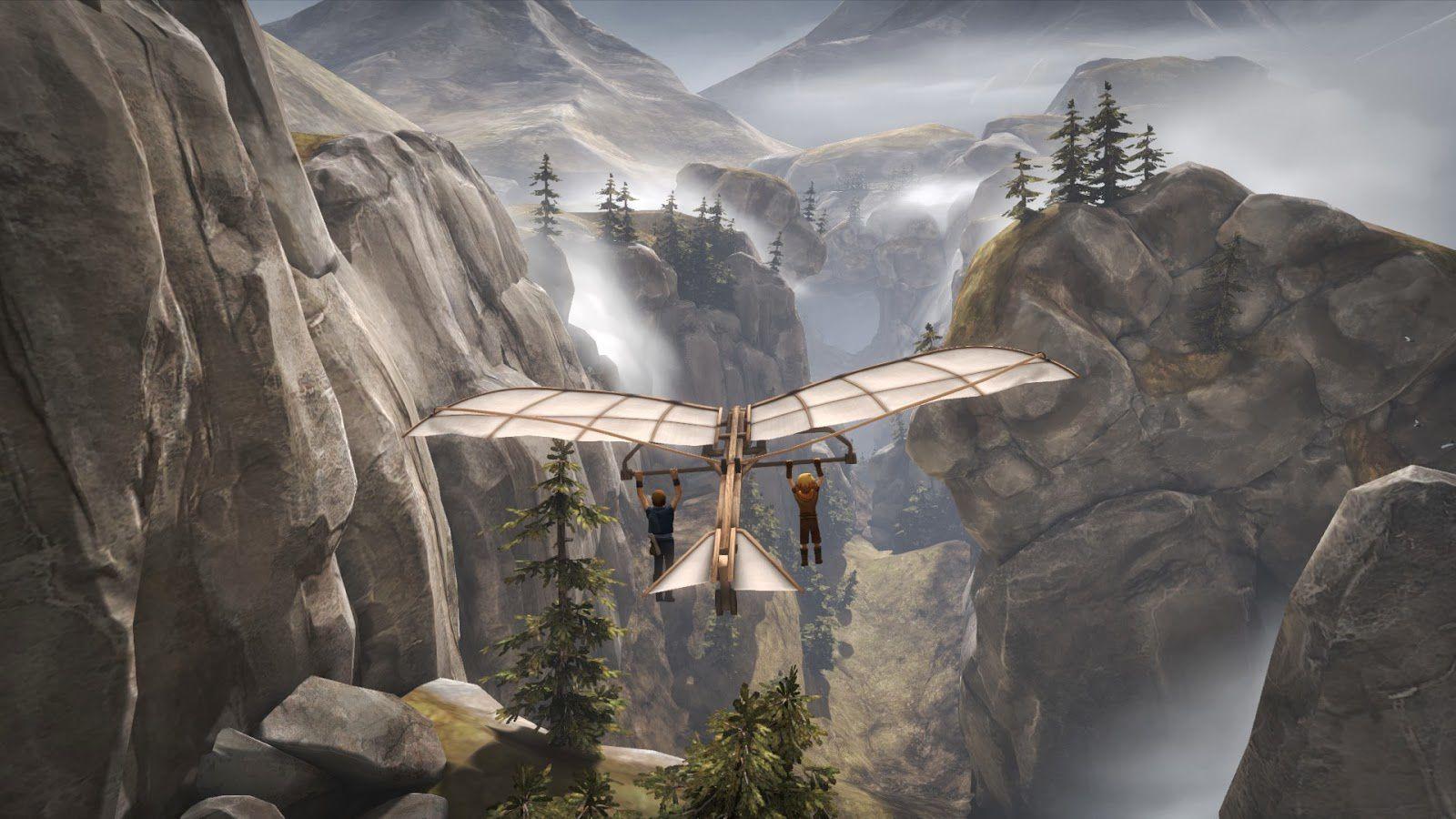 Voler ou naviguer devient un art quand on manipule les deux héros simultanément &#x3B; et vraiment l'expérience en Deltaplane donne Borthers un de ses moments les plus réussi