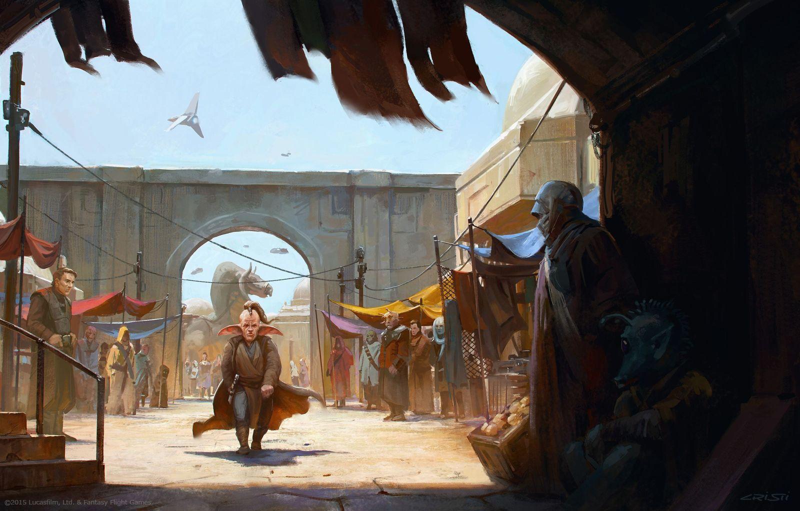 Et puis j'ai renoncé à cette illustration parce que c'était trop marqué du côté de Star Wars et que je n'ai pas souvenir que les jeux de rôle Star Wars soient passés par la case financement participatif