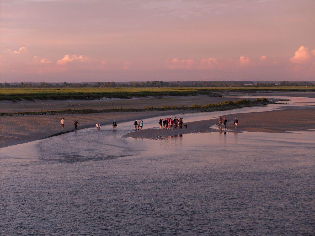 Saint Valery-baie de somme-coucher de soleil