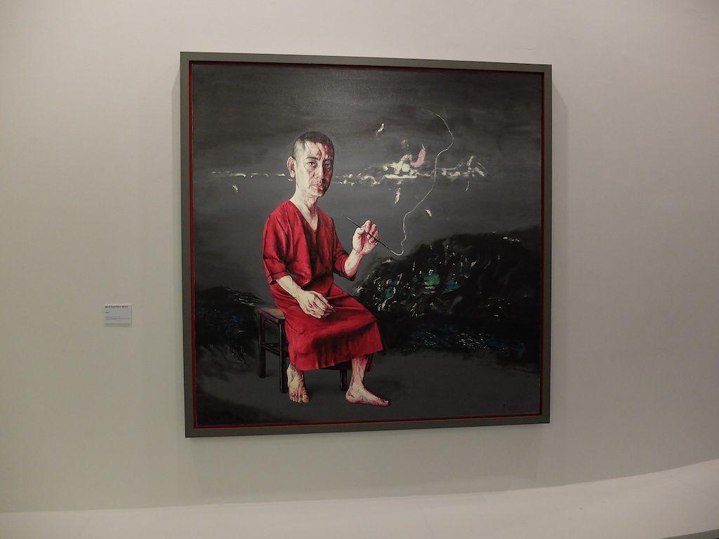 Zeng Fanzhi au MAM-autoportrait.